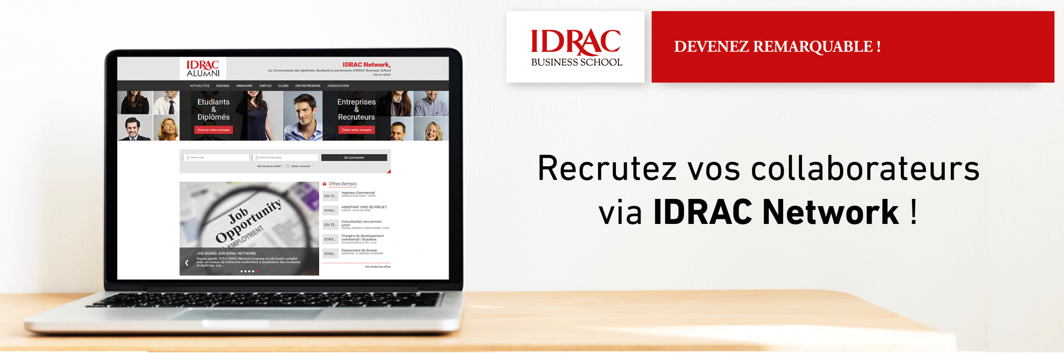 Recrutez vos collaborateurs sur IDRAC Network !